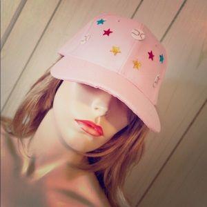 💕Pink Ladies Baseball STAR BLING Cap Hat DIY ooak